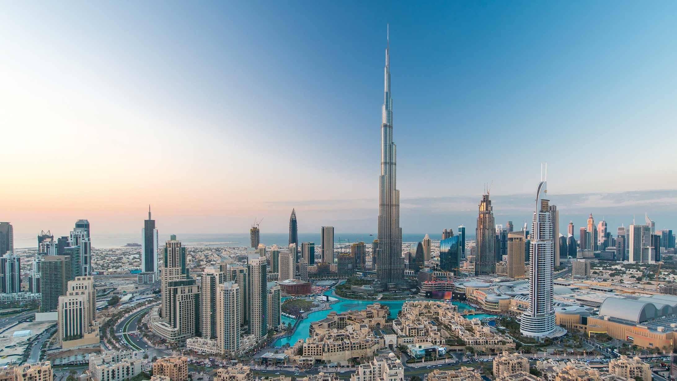 Blick auf Burj Khalifa