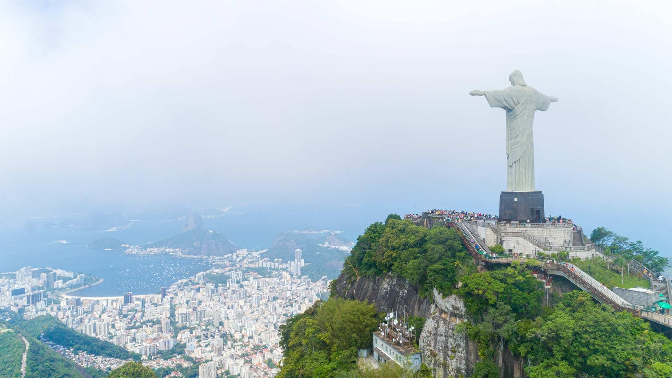 Blick auf den «Cristo Redentor» in Rio de Janeiro