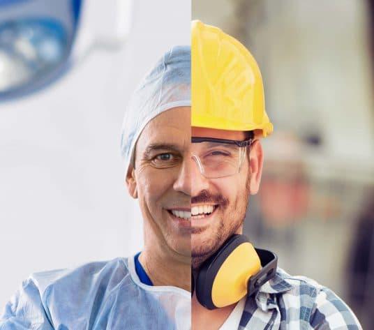 Bild Bauleiter und Arzt