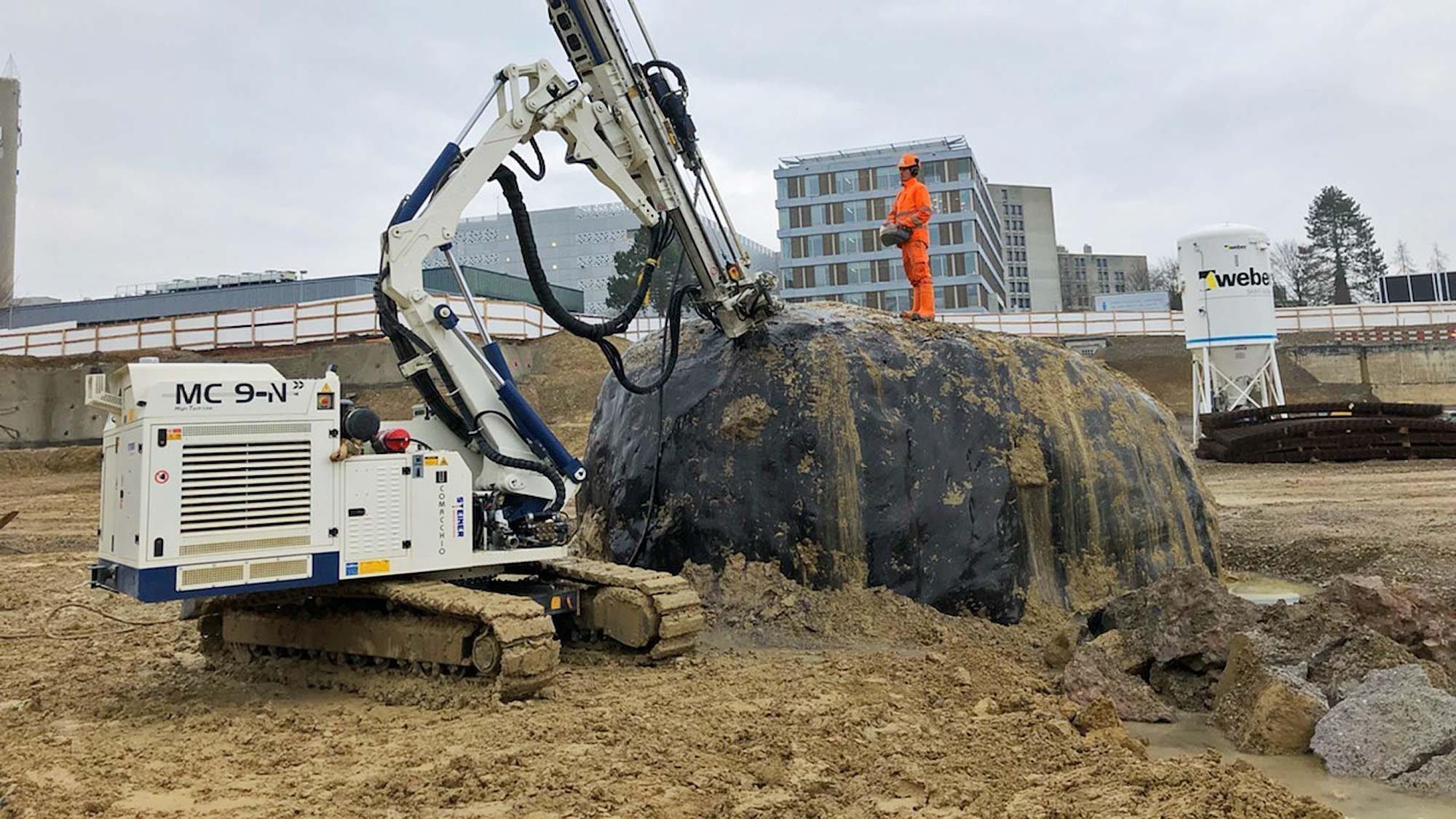 Der 500 Tonnen schwere Findling