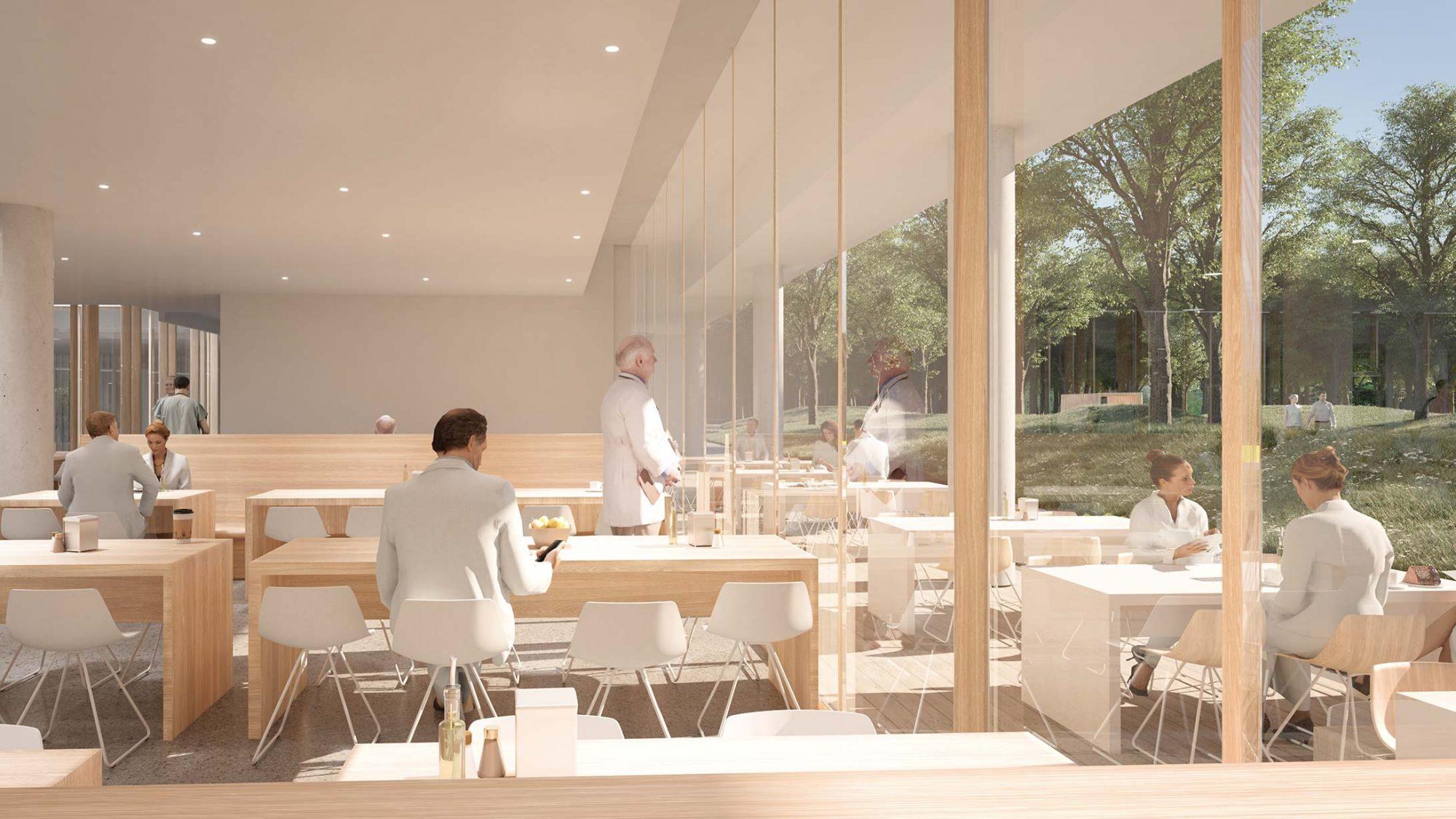 Illustration der Cafeteria des KSB-Neubau