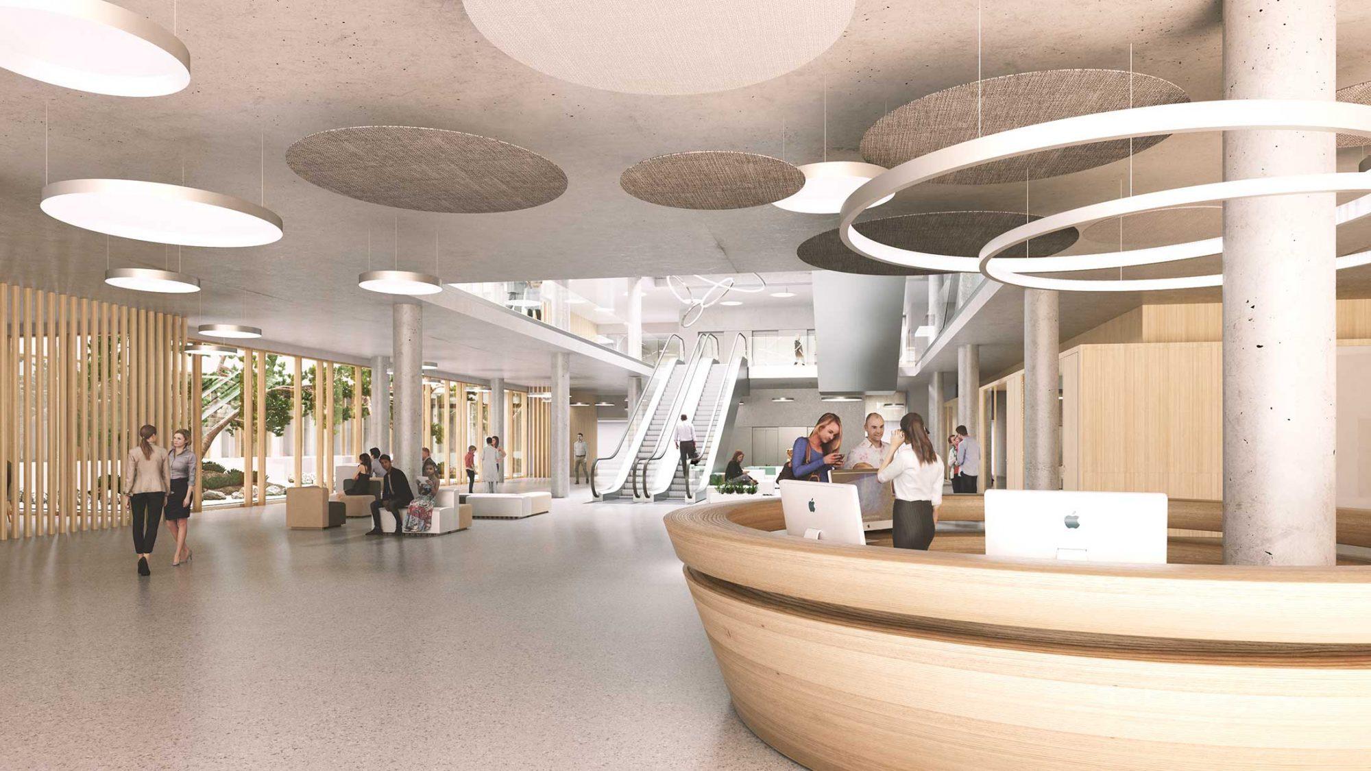 Visualisierung KSB Neubau: Eingangshalle