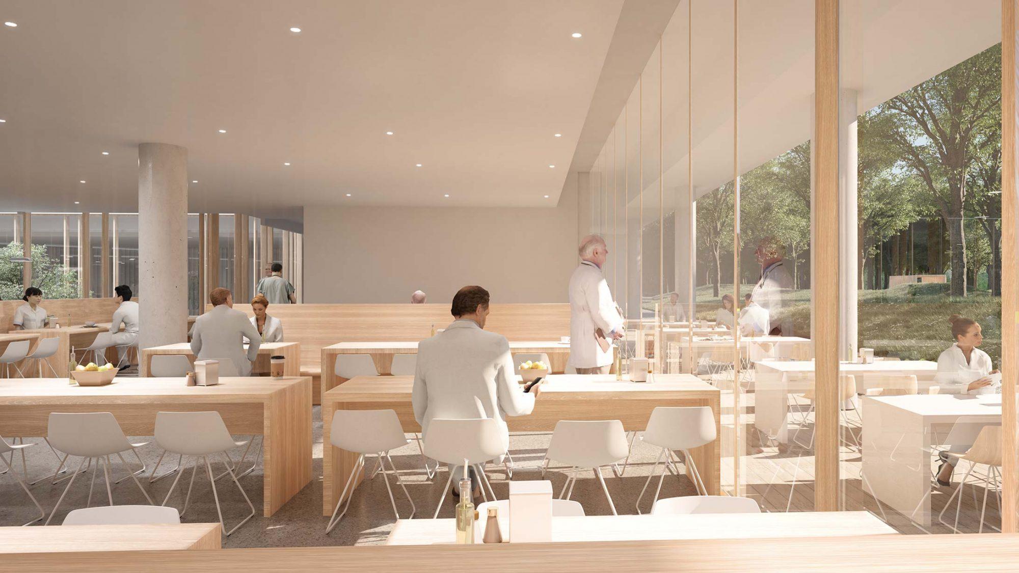 Visualisierung KSB Neubau: Cafeteria