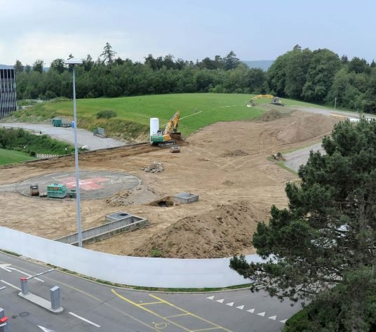 Ausblick auf die Baustelle
