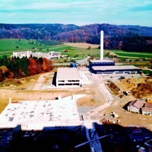Baustelle des heutigen Kantonsspitals Baden