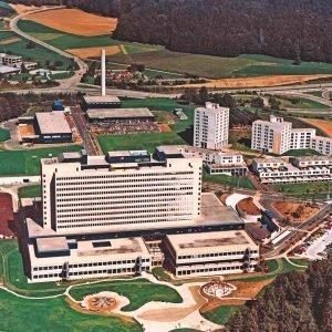 Das Kantonsspital Baden 1978 aus der Luft