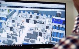André Schneider zeigt das BIM am Bildschirm
